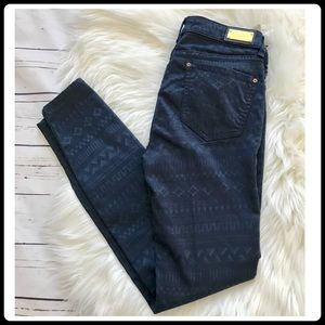 Zara slim fit stretch jeans with geo print